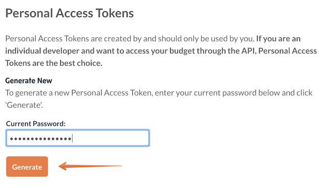 Generate Personal Access Token